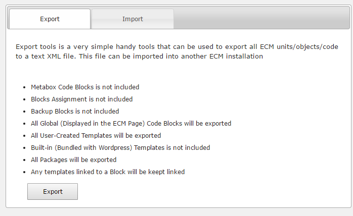 import export tool